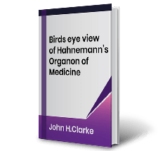 Birds eye view of Hahnemanns Organon of Medicine by John H.Clarke Book