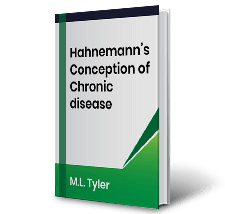 Hahnemanns Conception of Chronic disease by M.L. Tyler Book