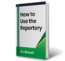 How to Use the Repertory by G I Bidwell Book