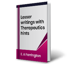 Lesser writings with Therapeutics hints by E.A Farrington Book