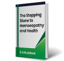 The Stepping Stone to Homoeopathy and Health by E.H.Ruddock Book